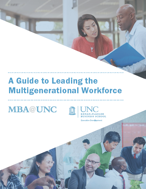 A Guide to Leading the Multigenerational Workforce cover