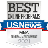 Best Online Programs U.S. News MBA General Management 2021